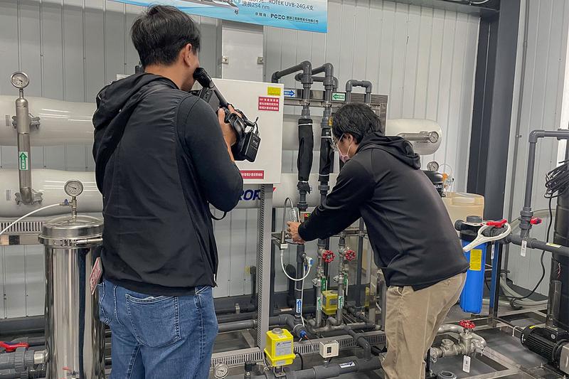 嘉藥再生水類產線工廠每日可產約100噸RO再生水供科技廠使用