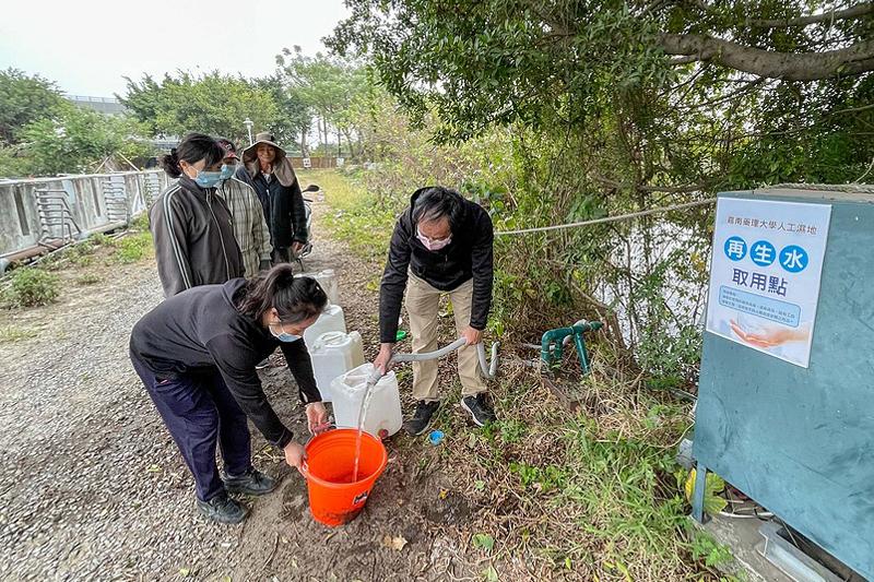 嘉藥提供周邊鄰里民眾灑水、澆灌及沖洗等非人體接觸之生活次級用水