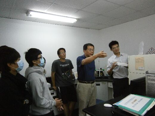 Flow Cytometry Class (Professor Cheng Rong-Hua, second from right)