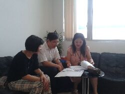 Consultation with experts from industry