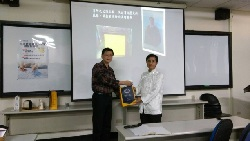 Invited Chairman Liu Jin-Ming of Taiwan Public Safety Institute to give a speech at the school.