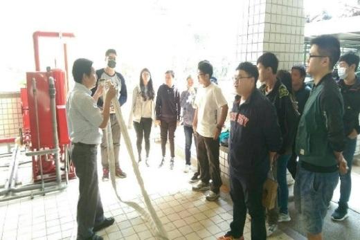室內消防栓水帶、壓力水箱業師演練教學