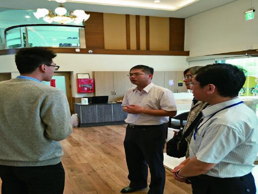 Teachers visiting health industry