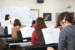 A music and movement class for infants in the Department of Childhood Education and Nursery