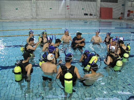 Water rescue training activity for students of the Department of Sports Management