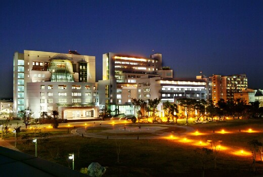 Night View of the Library and Information Building