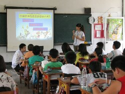 Conducting an information session  for elementary school children on the safe use of medicines, and the dangers of smoking and drug abuse
