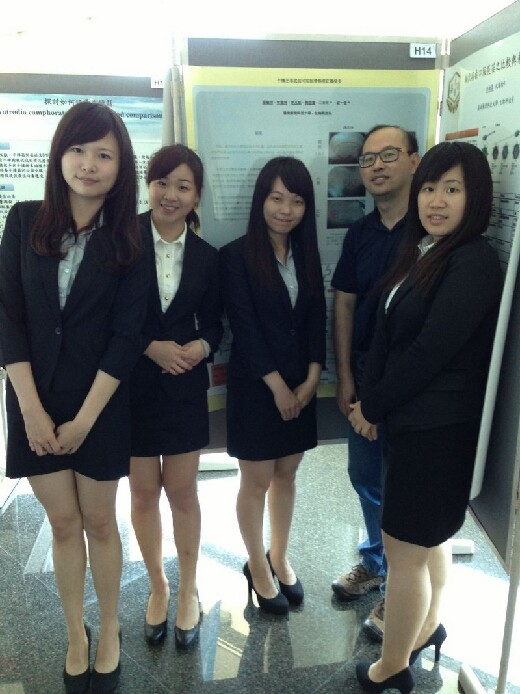 Senior students exhibit the results of their project work on the application of Antrovia to the treatment of acne