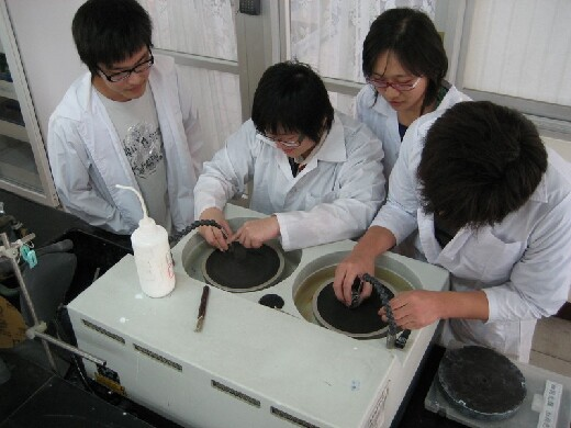 Materials experiment (polishing)