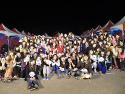 November 28, 2013: Group photo at a barbecue for students in the Department of Childhood Education and Nursery