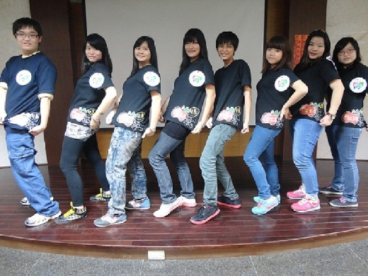 Display of uniforms designed by the Student Association