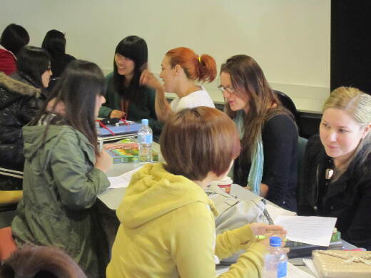 Students in class on the 2012 Australian Study Tour