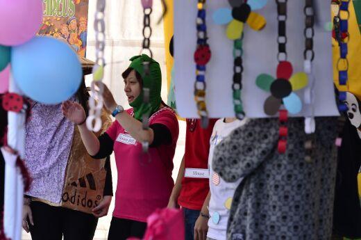 At the Circus -  student presentation at the 2014 Storytelling Carnival