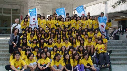 Group photo of service education volunteers