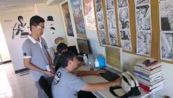 本系教師至東尼動畫公司訪視參與實習之學生