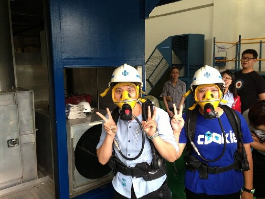 Field trip to China Steel Company's Industrial Safety Somatosensory Center