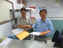 與惠民實業公司簽定典範廠商(20130419)
