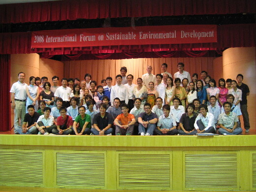 Group photo with Thai and Vietnamese students at the 2008 International Conference
