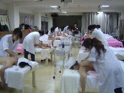 Students testing for the International Aromatherapist Elementary Level Certificate