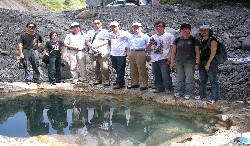 Field investigation in the Baolai hot springs district