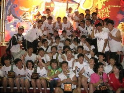 Champions in the university division of the 2011 Tainan International Dragon Boat Championship
