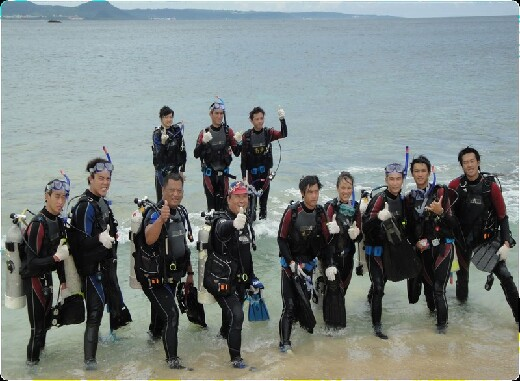 Training for PADI international professional diving certification