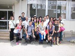 Students and teachers from our department on a field trip to an elderly care organization in Japan